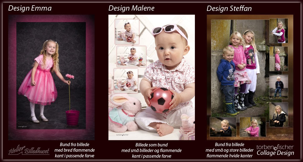 Collage design Emma, Malene og Steffan